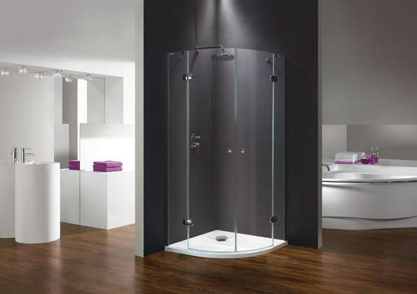 Wersja kabiny prysznicowej w kolorze chromowanym z wypełnieniem W0