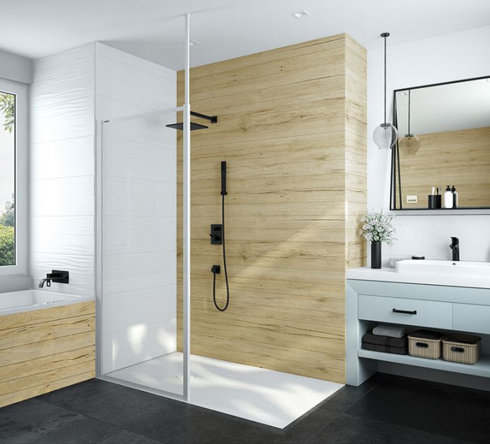 Basic Walk-In shower enclosure with W0 glass sheet