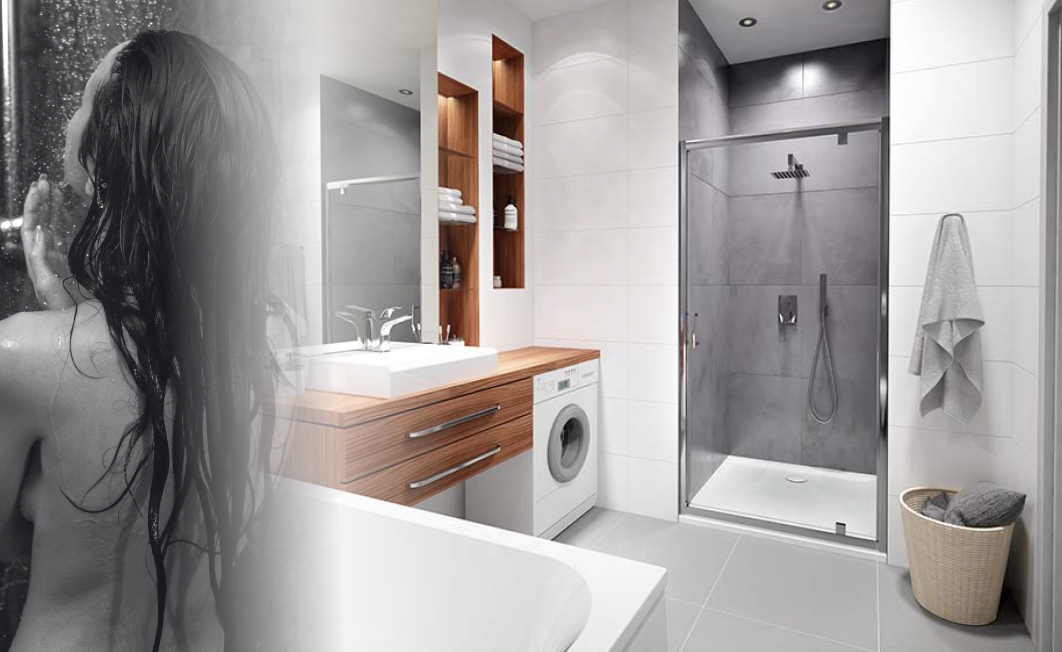 Why is a shower tray a better solution than a shower enclosure without the shower tray?
