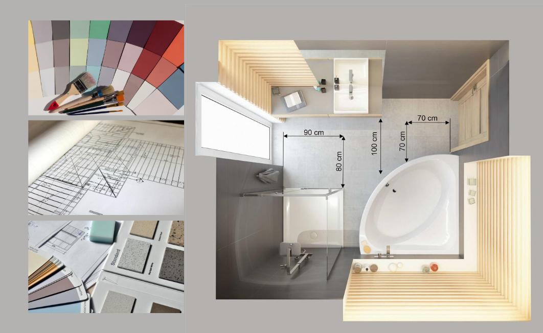 Funkcjonalna i ergonomiczna łazienka bez względu na wymiar