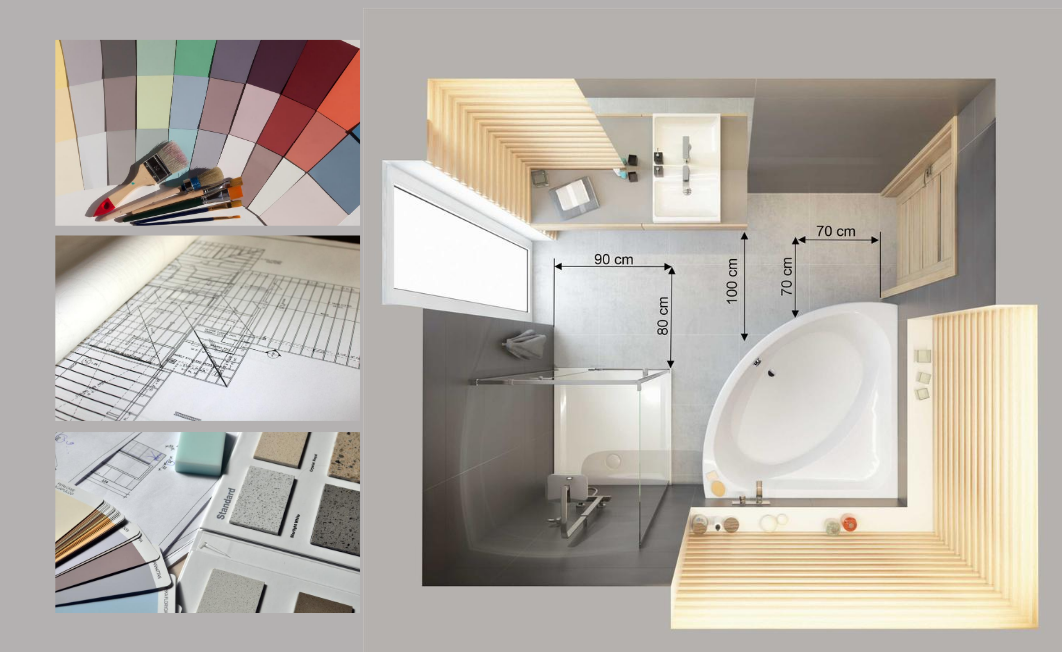 A functional and ergonomic bathroom, regardless of the size
