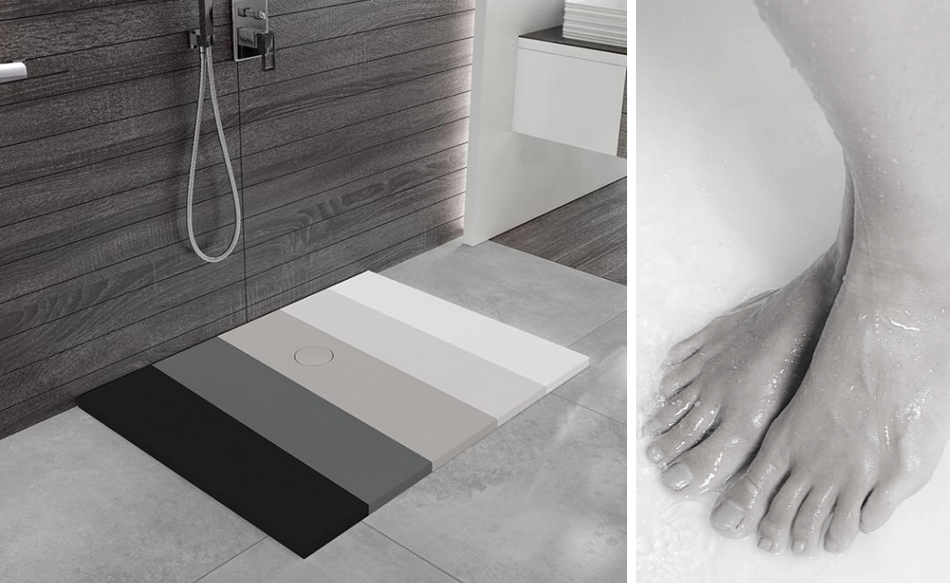 A colored shower tray? Why not?