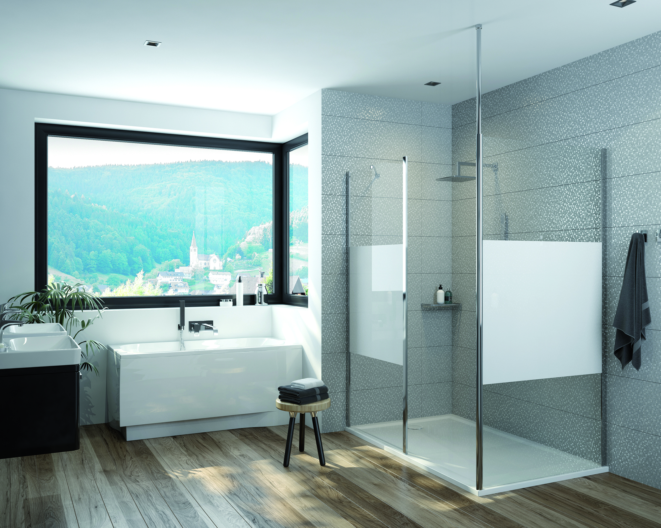 Bathtub or shower enclosure? How to combine convenience and functionality?