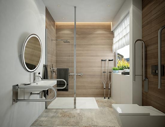 Barier-free bathroom