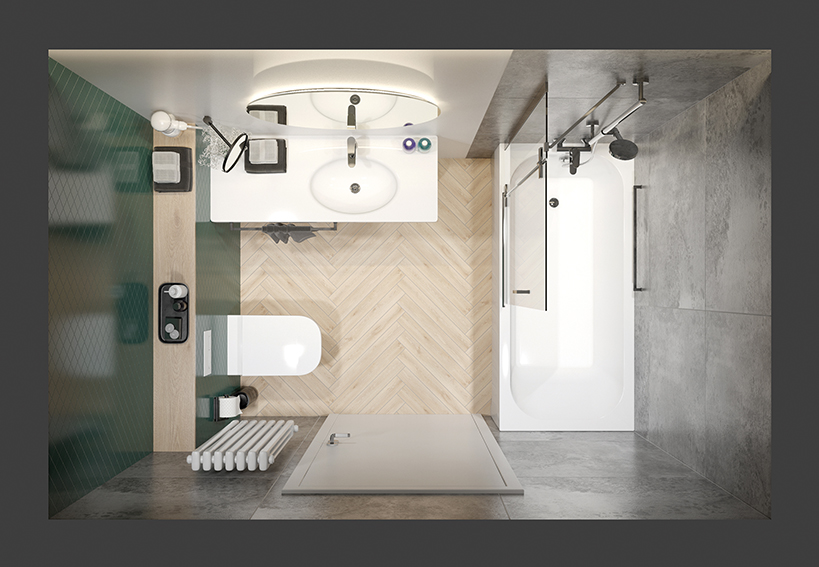 Simple solutions for the optical enlargement of your bathroom from SANPLAST SA