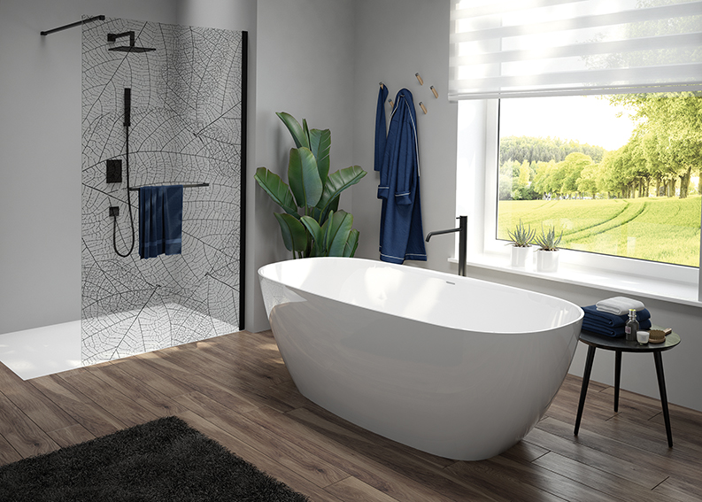The bathroom in harmony with nature