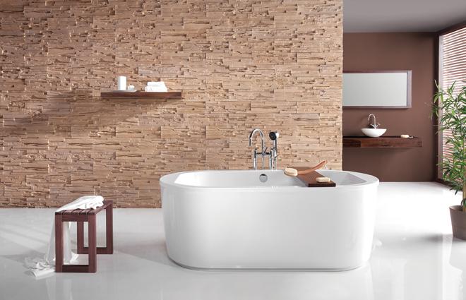 Freestanding bathtub - a stylish solution that changes the bathroom into a bathing salon