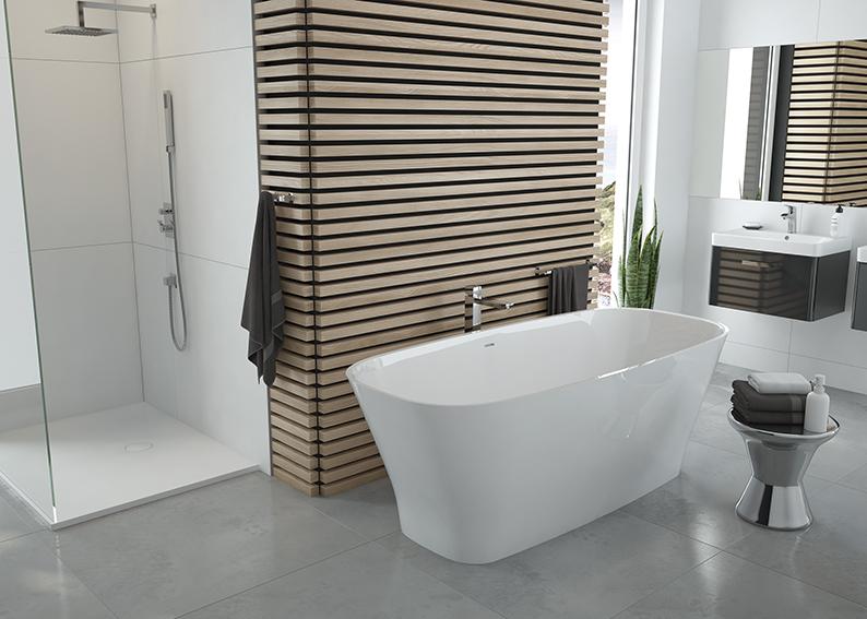 Novelties from SANPLAST SA: NATUR MINERAL bathtub: decoration of your bathroom