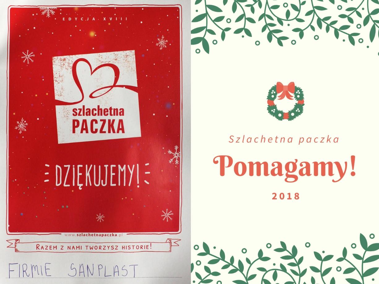 """Szlachetna Paczka"" from SANPLAST SA was handed over to family in needs"