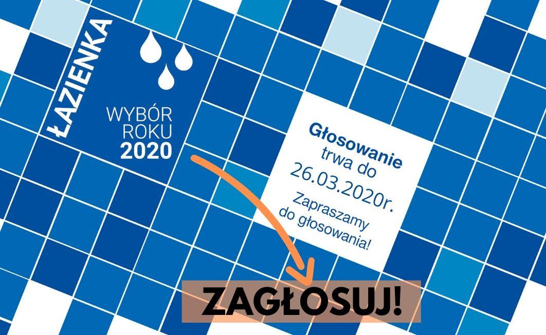 Głosowanie w konkursie Łazienka Wybór Roku 2020-rozpoczęte! Zagłosuj!