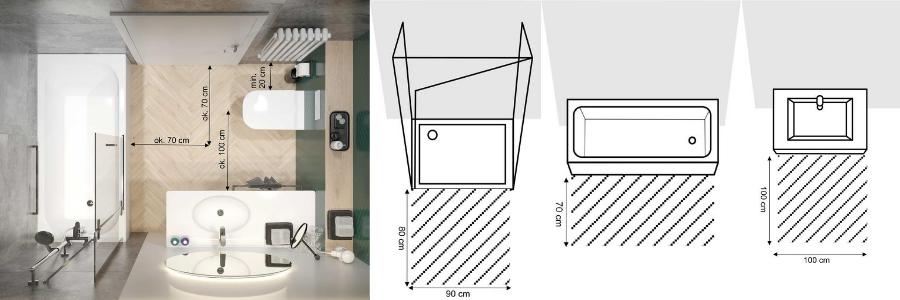 Funkcjonalne rozplanowanie łazienki